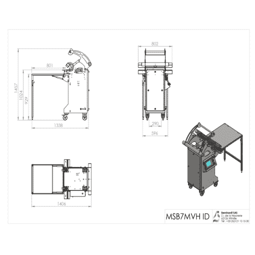 Détail machine MSB11MVHI ID Pharma